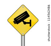 Yellow Rhombus Road Sign For N...
