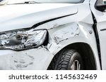 car crash or accident. front... | Shutterstock . vector #1145632469