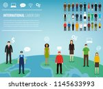 people of different occupations.... | Shutterstock .eps vector #1145633993