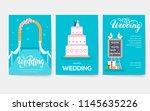 wedding day vector brochure... | Shutterstock .eps vector #1145635226
