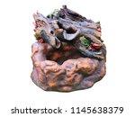 decorative ceramic fountain for ...   Shutterstock . vector #1145638379