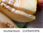 sliced into small slices juicy... | Shutterstock . vector #1145645396