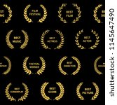 black and gold film award...   Shutterstock .eps vector #1145647490
