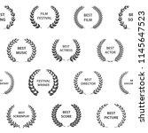 black and white film award... | Shutterstock .eps vector #1145647523