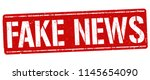 fake news grunge rubber stamp... | Shutterstock .eps vector #1145654090