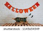 halloween holiday background... | Shutterstock . vector #1145654549