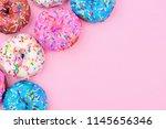 corner border of assorted... | Shutterstock . vector #1145656346