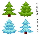 evergreen tree seasonal change... | Shutterstock .eps vector #1145658116