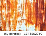 rusted white painted metal wall....   Shutterstock . vector #1145662760