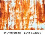 rusted white painted metal wall....   Shutterstock . vector #1145663093