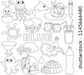 blue colorless objects color... | Shutterstock .eps vector #1145666480