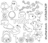 pink colorless color objects...   Shutterstock .eps vector #1145669639