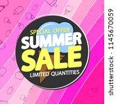 summer sale  poster design... | Shutterstock .eps vector #1145670059