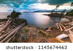 pacific north west islands on... | Shutterstock . vector #1145674463