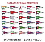 30 flags of asian countries | Shutterstock .eps vector #1145674670