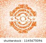 sos abstract orange mosaic... | Shutterstock .eps vector #1145675096