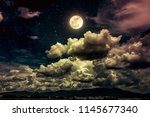 Beautiful Cloudscape With Many...