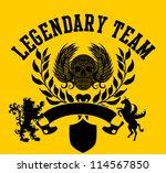 tribal skull shield   Shutterstock .eps vector #114567850