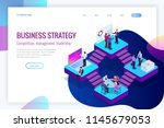 isometric analysis data and... | Shutterstock .eps vector #1145679053