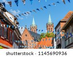 oktoberfest decoration in the... | Shutterstock . vector #1145690936