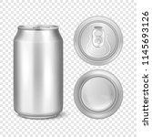 vector realistic 3d empty... | Shutterstock .eps vector #1145693126