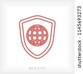 shield icon  stock vector... | Shutterstock .eps vector #1145693273