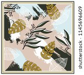contemporary art for scarf.... | Shutterstock .eps vector #1145696609