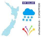 winter new zealand map. vector... | Shutterstock .eps vector #1145699330