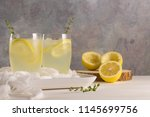 cold lemonade or alcoholic... | Shutterstock . vector #1145699756