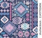 indian rug tribal ornament... | Shutterstock .eps vector #1145702606
