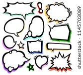 set of comic speech bubbles... | Shutterstock .eps vector #1145703089