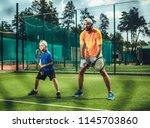 full length portrait of... | Shutterstock . vector #1145703860