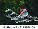 soap bubbles abstract shape ... | Shutterstock . vector #1145704106