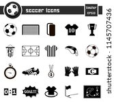 soccer icons on isolated... | Shutterstock .eps vector #1145707436