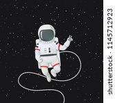 vector illustration. astronaut... | Shutterstock .eps vector #1145712923