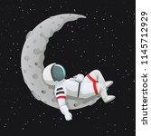 vector illustration. astronaut... | Shutterstock .eps vector #1145712929