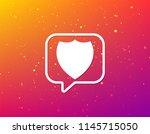 shield protection icon. defense ... | Shutterstock .eps vector #1145715050