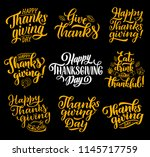 thanksgiving day greeting... | Shutterstock .eps vector #1145717759