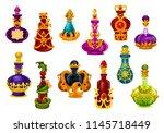 potion bottle cartoon icon.... | Shutterstock .eps vector #1145718449