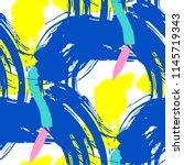 brush strokes. seamless texture ... | Shutterstock .eps vector #1145719343