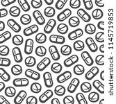 pills and capsules background.... | Shutterstock .eps vector #1145719853