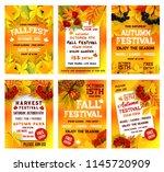 autumn festival poster template ... | Shutterstock .eps vector #1145720909