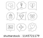 love heart  gift box and... | Shutterstock .eps vector #1145721179