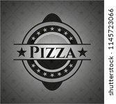pizza dark emblem. retro | Shutterstock .eps vector #1145723066