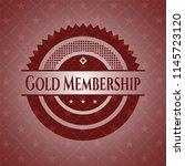 gold membership red emblem.... | Shutterstock .eps vector #1145723120