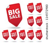 big sale red tags with sale... | Shutterstock .eps vector #114572980