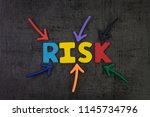 business risk management ... | Shutterstock . vector #1145734796