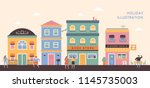 pastel ton european style... | Shutterstock .eps vector #1145735003