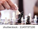 hand of confident businessman... | Shutterstock . vector #1145737130