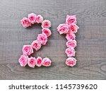 21  twenty one     vintage...   Shutterstock . vector #1145739620
